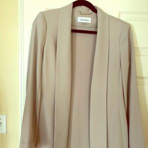 Calvin Klein open front crepe jacket